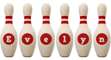 Evelyn bowling-pin logo