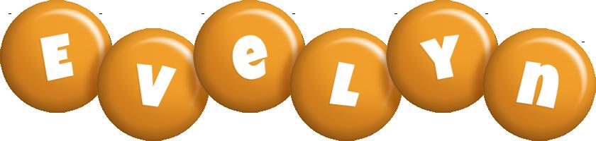 Evelyn candy-orange logo