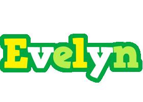Evelyn soccer logo
