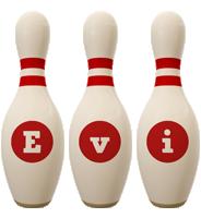 Evi bowling-pin logo