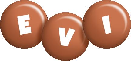 Evi candy-brown logo