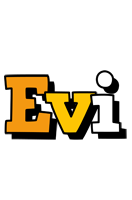 Evi cartoon logo