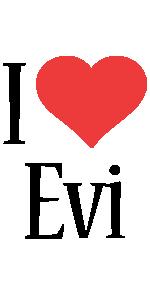 Evi i-love logo