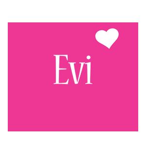 Evi love-heart logo