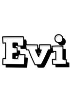Evi snowing logo