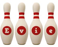 Evie bowling-pin logo