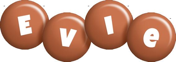 Evie candy-brown logo