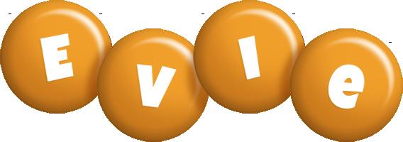 Evie candy-orange logo