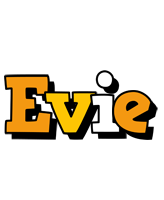 Evie cartoon logo