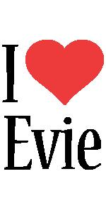 Evie i-love logo