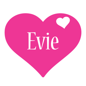 Evie love-heart logo