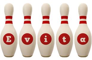 Evita bowling-pin logo