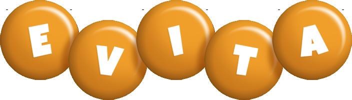 Evita candy-orange logo