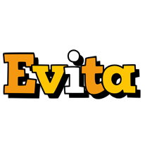 Evita cartoon logo