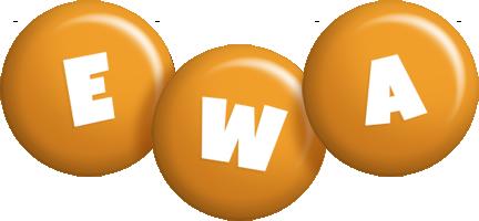 Ewa candy-orange logo