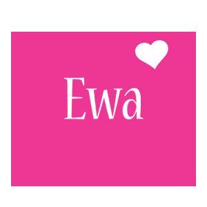 Ewa love-heart logo