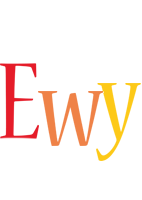 Ewy birthday logo