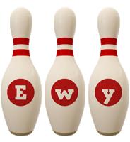 Ewy bowling-pin logo