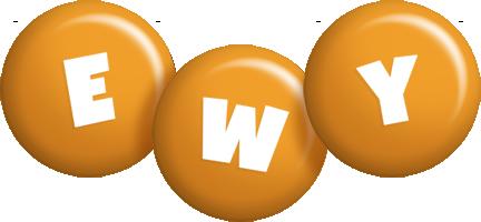 Ewy candy-orange logo