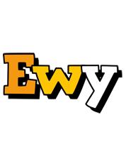 Ewy cartoon logo