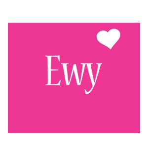 Ewy love-heart logo