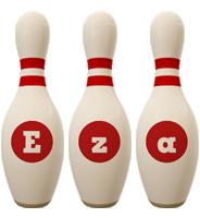 Eza bowling-pin logo
