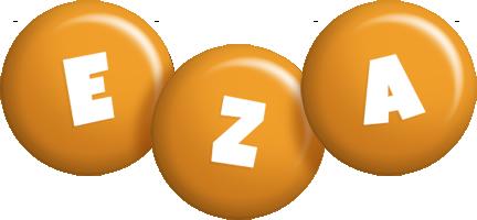 Eza candy-orange logo