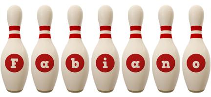 Fabiano bowling-pin logo