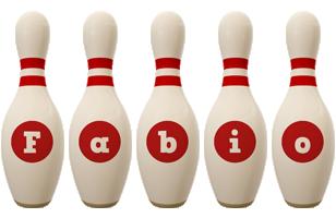 Fabio bowling-pin logo