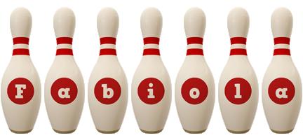 Fabiola bowling-pin logo