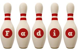 Fadia bowling-pin logo