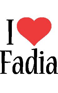 Fadia i-love logo