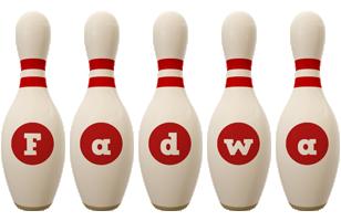 Fadwa bowling-pin logo