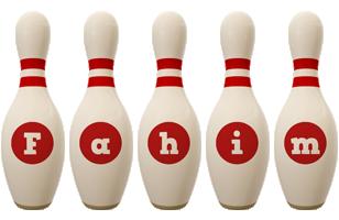 Fahim bowling-pin logo