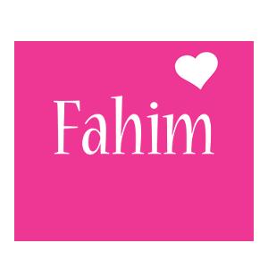 Fahim love-heart logo