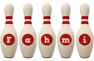 Fahmi bowling-pin logo