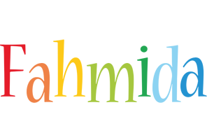 Fahmida birthday logo