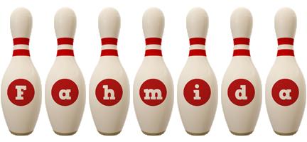Fahmida bowling-pin logo