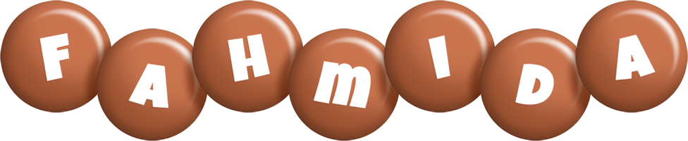 Fahmida candy-brown logo
