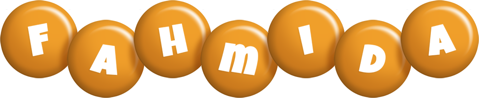 Fahmida candy-orange logo