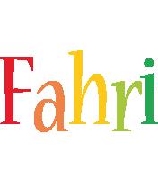 Fahri birthday logo