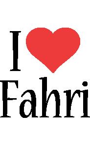 Fahri i-love logo