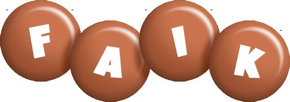 Faik candy-brown logo