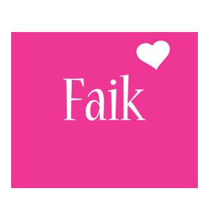 Faik love-heart logo