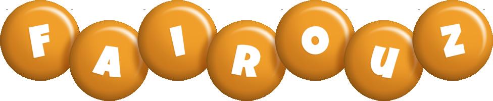 Fairouz candy-orange logo
