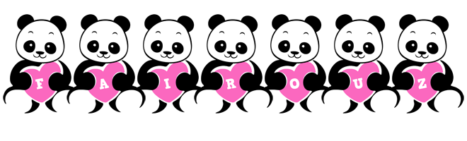Fairouz love-panda logo