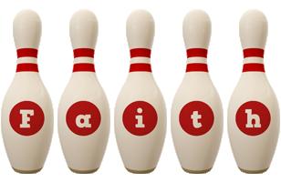 Faith bowling-pin logo