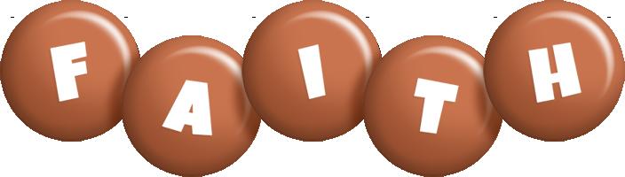 Faith candy-brown logo