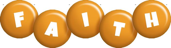 Faith candy-orange logo