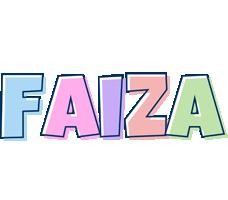 Faiza pastel logo